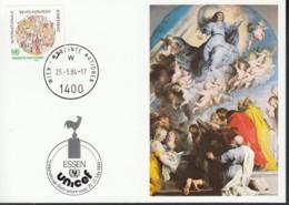 UNO WIEN  UNICEF-Kunstkarte Nr 26,P. P. Rubens, Zur 5. Int. Briefmarkenmesse Essen 25.5.1984 - Lettres & Documents