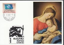UNO GENF  UNICEF-Kunstkarte, G. B. Salvi, Maria Mit Kind, Zur EURPHILA Rom 14.10.1983 - Office De Genève