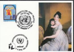 UNO GENF  UNICEF-Kunstkarte, Ferdinand Hodler, Mutter Mit Kind, Zur FERPHILEX Montreux 6.4.1984 - Office De Genève