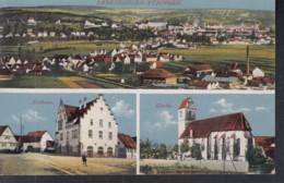 Derendingen, Mit Tübingen, Rathaus, Kirche, Um 1912 - Tuebingen