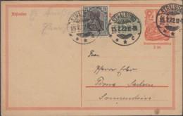 INFLA DR P 152 I Mit ZFr. 104 A,Postreiter, Gestempelt: Stralsund 15.7.1922 - Infla