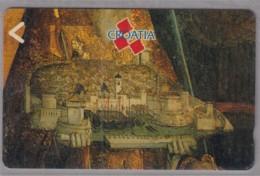 KROATIEN TELEFONKARTE Taxcard 400, Motiv: Mittelalterliches Stadtbild - Landschaften