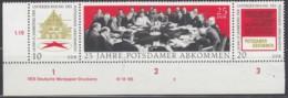 DDR WZd 237 DV, DreierStreifen, Postfrisch **, Mit Druckvermerk DWD (e) 2, 25 Jahre Potsdamer Abkommen, 1970 - Nuovi