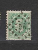 COB 30 Oblitération à Points 58 BRUGES +1 - 1869-1883 Léopold II