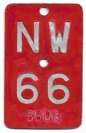 Velonummer Nidwalden NW 66 - Number Plates