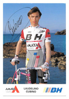 CARTE CYCLISME LAUDELINO CUBINO SIGNEE TEAM BH 1990 - Cyclisme