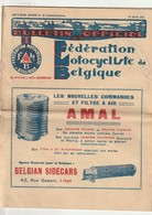 Fédération Motocycliste De Belgique 1928 - Filtre à Air AMAL- Selles PERRY.... - Libri, Riviste, Fumetti