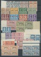 ALGERIEN 1-22 VB **, 1924, Ausgaben Frankreichs Mit Aufdruck In Postfrischen Viererblocks, Fast Nur Pracht - Algerien (1962-...)