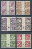 ALGERIEN VB **, 1926, Mi.Nr. 39,40,45,47,49/50 Je Im Zwischensteg-Viererblock Mit Millesimes Nr. 6, Postfrisch, Pracht - Algerien (1962-...)