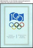SPORT **,Brief , Präsentation Der Philatelie Kollektion Zum 100 Jährigen Bestehen Des IOC In 3 Bolaffi Spezialalben (dre - Briefmarken
