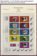 SPORT **,Brief , Umfangreiche Sammlung Olympische Spiele 1980 In 3 Spezialalben Der Deutschen Sporthilfe Mit Kleinbogen, - Briefmarken