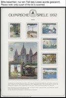 SPORT **,Brief , Olympische Spiele 1992 Im Spezialalbum Der Deutschen Sporthilfe Mit Blocks, Bogen, Markenheftchen, Stre - Briefmarken