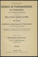 PHIL. LITERATUR Krötzsch-Handbuch Der Postfreimarkenkunde - Abschnitte X, Beide Mecklenburg, Mit Lichttafeln Schwerin I- - Filatelia E Historia De Correos