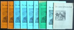 PHIL. LITERATUR De Aero Philatelist, 9 Verschiedene Hefte Aus 1969-1975, Arge De Vliegende Hollander, Mit Vielen Abbildu - Filatelia E Historia De Correos