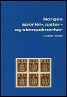 PHIL. LITERATUR Norges Sportel-, Juster- Og Stempelmerker, 1975, Oslo Filatelistklubb, 50 Seiten, Mit Farbiger Tafel Und - Filatelia E Historia De Correos