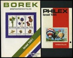 PHIL. LITERATUR Borek Briefmarkenkatalog Israel 1981 (124 Seiten) Und Philex Israel 1995 (88 Seiten), Farbige Abbildunge - Filatelia E Historia De Correos