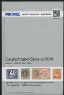 PHIL. KATALOGE Michel: Deutschland-Spezial Katalog 2018, Band 1, 1849 Bis April 1945, Alter Verkaufspreis: EUR 89.90 - Filatelia E Historia De Correos
