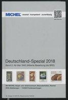PHIL. KATALOGE Michel: Deutschland-Spezial Katalog 2018, Band 2, Ab Mai 1945 (Alliierte Besetzung Bis BRD), Alter Verkau - Filatelia E Historia De Correos