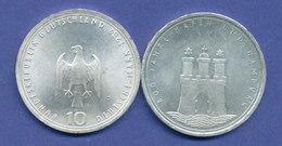 Bundesrepublik 10DM Silber-Gedenkmünze 1989, 800 Jahre Hafen Hamburg - [ 7] 1949-… : RFD - Rep. Fed. Duitsland