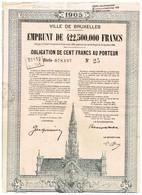 Obligation Ancienne - Ville De Bruxelles 1905 - Titre De 1925 - N°25 Série 078197 - Acciones & Títulos