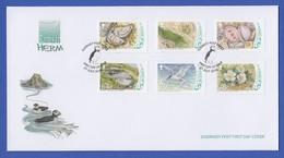 Guernsey 2016 Ramsar Herm Kleintiere Und Pflanzen Satz 6 Werte Auf FDC - Guernesey