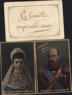 Chromos Chocolat Louit Empereur Alexandre III Impératrice Russie Dans Petite Enveloppe Illustrée - Louit
