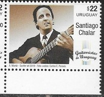 URUGUAY, 2019, MNH, MUSIC, SANTIAGO CHALAR, GUITARS,1v - Music