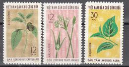 1974 Yvert Nº 823 / 825 MNH, Plantas, - Vietnam