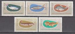1963  Yvert Nº 339 / 343  MNH,  Cultivo De Peces De Agua Dulce - Vietnam