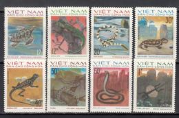 1975  Yvert Nº 875 / 882  MNH,   Reptiles - Vietnam