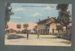 CPA - 47 - Sainte-Livrade  -  La Gare - Autres Communes