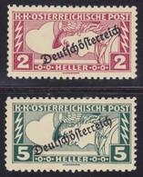 Österreich Michel Nr. 252 C - 253 C In LZ 11 1/2 : 12 1/2 * !!! - Ongebruikt