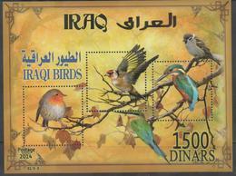 IRAQ ,2014, MNH, BIRDS , KINGFISHERS, S/SHEET - Birds