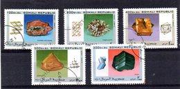 EDY454 - SOMALIA 1997, Cinque Valori Usati Tematica MINERALI  (2380A) - Minerali