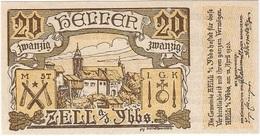 Austria (NOTGELD) 20 Heller Zell 10-4-1920 Kon 1272 A.2  UNC Ref 3654-1 - Austria
