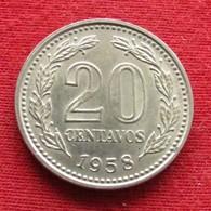 Argentina 20 Centavos 1958 KM# 55  Argentine - Argentine