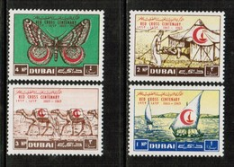 DUBAI  Scott # 18-21* VF MINT LH  (Stamp Scan # 530) - Dubai