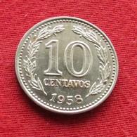 Argentina 10 Centavos 1958 KM# 54  Argentine - Argentine