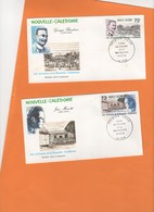 2 Enveloppes 1er Jour: 1988. G. Baudoux Et Jean Mariotti. Ecrivains Français Néo-calédoniens FDC. - Briefe U. Dokumente