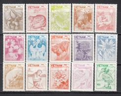 Vietnam 1984 Yvert Nº 553 / 567  MNH,  Flora Y Fauna - Vegetales