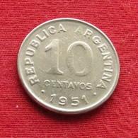 Argentina 10 Centavos 1951 KM# 47  Argentine - Argentine