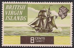 British Virgin Islands 1970 – 74 QE2 8ct HMS Eclair MM SG 247 ( M995 ) - British Virgin Islands