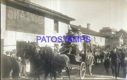 118638 FRANCE CHAMONIX AUVERNIA COSTUMES CARRIAGE A HORSE PEOPLE POSTAL POSTCARD - Francia