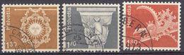 HELVETIA - SUISSE - SVIZZERA - 1973 - Serie Completa Usata Composta Da 3 Valori: Yvert 918/920. - Usati