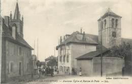 """CPA FRANCE 74 """"St Julien En Genevois, Ancienne église Et Bureau De Poste"""" - Saint-Julien-en-Genevois"""