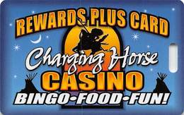 Charging Horse Casino - Lame Deer Montana - Slot Card   ...[RSC][MSC]... - Casino Cards