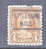 U.S. 556   Perf. 11    (o)    MASS.  1922-25 Issue - United States