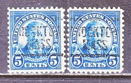 U.S. 557   Perf. 11    (o)    MASS.  1922-25 Issue - Precancels
