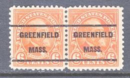 U.S. 558   Perf. 11    (o)    MASS.  1922-25 Issue - Precancels