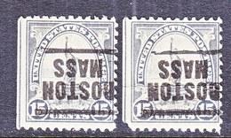 U.S. 566   Perf. 11    (o)    MASS.  1922-25 Issue - Precancels